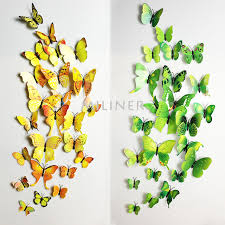 12pcs PVC 3d Butterfly Wall Decor – Borkut