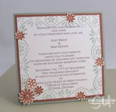 Wedding Invitations Ottawa Wedding Invitations Hand Stamped Cards With Josee Smuck Stampin