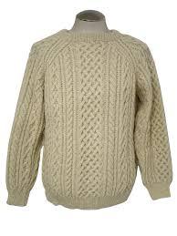 white wool sweater eighties vintage sweater 80s missing label mens