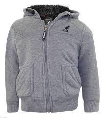 new kids kangol branded jackets boys furliner winter coats sherpa