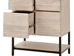 White Wood File Cabinet Filing Cabinet Cabinet Cabinets C251652 2 Drawer Mobile Pedestal