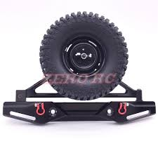 jeep jk rock crawler axial scx10 poison spyder rear bumper with tire carrier shackles