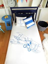 Mini Crib Fitted Sheet by Organic Cotton Baby Bedding With Peacock And Biplane Designs