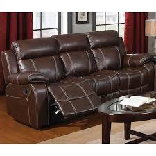 Coaster Leather Sofa Coaster Myleene Leather Motion Sofa In Brown 603021