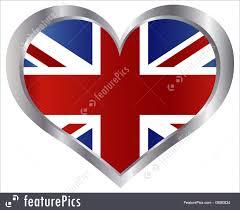 england union jack flag heart illustration