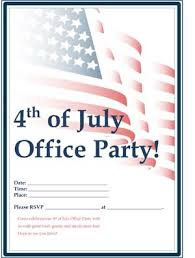office party flyer july 4th activities small business free forms