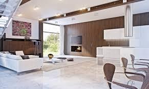 mod retro marble white and brown living area interior design ideas