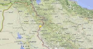 map iran iraq hundreds killed as powerful earthquake strikes iran iraq border