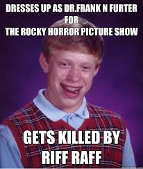 Rocky Horror Meme - dresses up as dr frank n furter for the rocky horror picture show