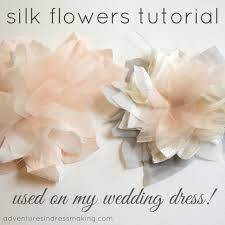 silk flowers for wedding my wedding dress flowers tutorial create enjoy