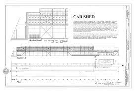 file car shed plan and section western railway of alabama