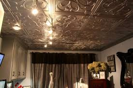 Tin Ceiling Lights Contemporary Bedroom Designed With Antique Tin Ceiling Tiles And