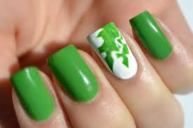 50 best green and white nail art design ideas for girls