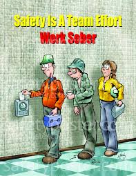 cartoon alcohol abuse working sober safety poster