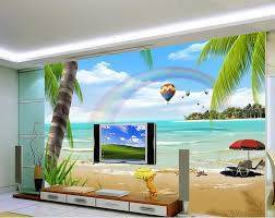 fashion beach scenery hd tv backdrop 3d wallpaper flower