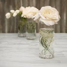 Cylinder Clear Glass Vases Round Glass Vase Clear Cylinder 4 X 10 Inches