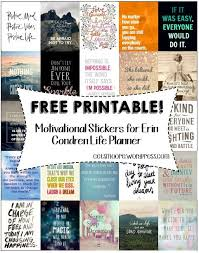 printable stencils quotes free printable inspirational stickers for erin condren life planner
