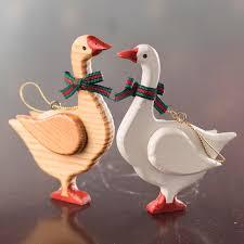 wood goose ornament ornaments