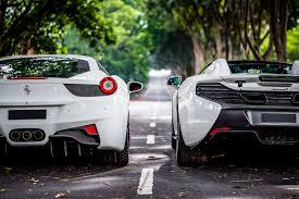 Ferrari 458 Italia White - ferrari 458 italia and mclaren 650s spider u2013 feb 13 2016