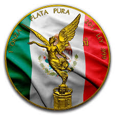 Mexixan Flag Mexican Flag U2013 2017 1 Oz Libertad Silver Coin U2013 Color And 24k Gold