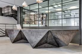 Concrete Reception Desk Concrete Reception Desk Search Arkey Lobby Pinterest