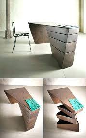 design accessories desk design ideas wooden stained unique desks varnished modern