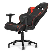 akracing ak 5050 ergonomic series racing gaming chair black red