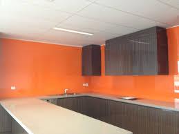 over sized glass splashback panels kitchensplashbacks orange