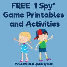 free u201ci spy game u201d printables and activities