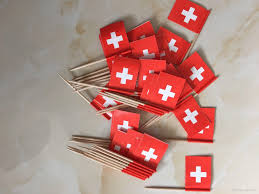 2017 mini swiss flag switzerland paper food picks dinner cake