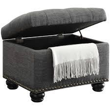 grey storage ottoman convenience concepts designs4comfort no tools 5th avenue storage