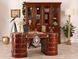 Schreibtisch Antik Schreibtisch Oval Massivholz Lionsstar Gmbh