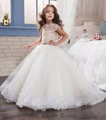 communion gowns new lace 2017 flower girl dresses kids birthday weddings holy