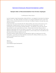 template for letter of reference 5 employee reference letter format executive resume template letter of recommendation template for former employee