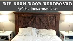 Headboards Made With Pallets Barn Door Headboard