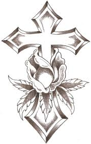 line design art crosses cross rose by thelob gourds