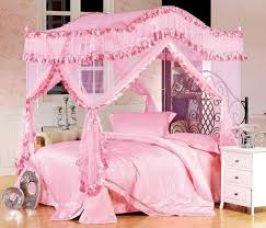 All Pink Bedroom - bedroom cute pink bedroom design gilrs canopy pink fabric