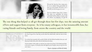 funeral fans boney kapoor s emotional letter to sridevi fans media post