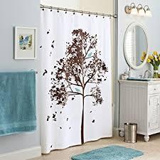 Bird Print Curtain Fabric Amazon Com Farley Tree Fabric Shower Curtain W Blue Bird Print