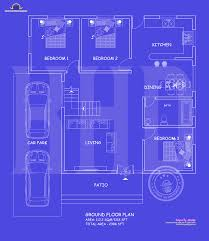 Blueprint Floor Plan by Blueprint And Elevation 2386 Sq Ft Amazing Architecture Magazine
