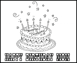 happy birthday cake coloring page free pages to print simple time