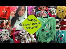 animal hoodie shopping slifevlogs youtube