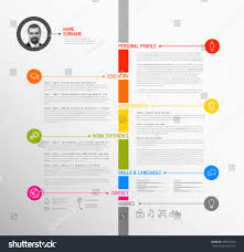 Resume Templates Minimalist by Vector Minimalist Cv Resume Template Minimalistic Stock Vector
