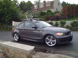 bmw 1 series roof bars bmw factory roof rack with thule bike holder