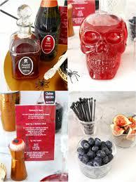 creepy n u0027 chic halloween cocktail party ideas halloween cocktails