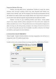 membuat database baru di sql server database mirroring microsoft sql server