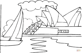 opera house sydney coloring free printable coloring pages