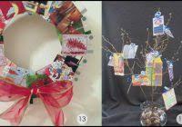 wreath christmas card holder decimalanniversary