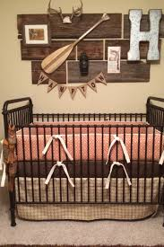 Boho Crib Bedding by Orange Diamond Crib Bedding In A Rustic Nursery Orange In The