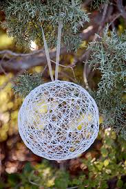 diy string christmas ornaments ornament yards and outdoor christmas
